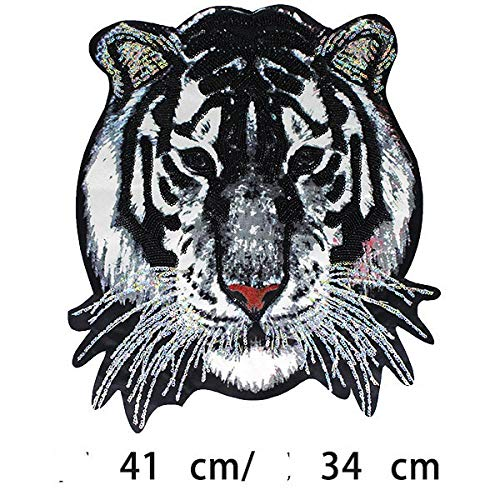 Coser O Planchar En Los Parches Apliques Para Ropa Camiseta Jeans Sombrero Pantalon Bolsas, 1pcs tigre grande 41 * 34
