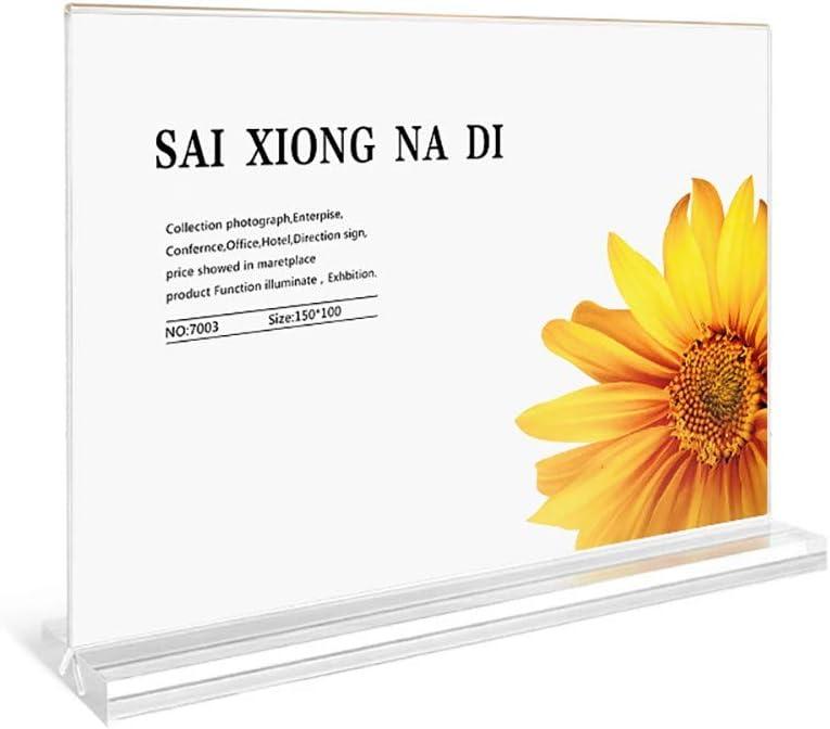 ZYHA Porta-Brochure da Banco A4//5//6 Porta-Avvisi da Tavolo T Plexiglas Trasparente Porta Menu da Tavolo per Menu,Supporti Foto e Segnaposto