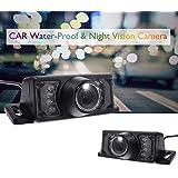 EINCAR防水高精細車のリアカメラ、広い可視角度、バックアップおよび駐車安全運転用バックミラーカメラモニター、ナイスナイトビジョン、ユニバーサルカーバックアップカメラシステム