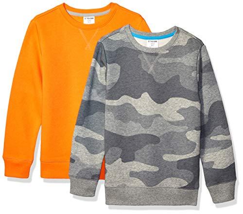 Spotted Zebra 2-Pack Crew Sweatshirts Niños, Pack de 2