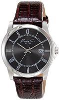 ケネスコール Kenneth Cole New York Men's メンズ 男性用 KC1923 Classic Analog Grey Dial Brown Strap Watch 時計 [並行輸入品]