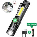 Torch USB Rechargeable Including 18650 Battery - LED Torch Tactical Super Bright Powerful