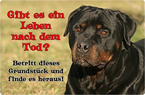 +++ ROTTWEILER - Metall WARNSCHILD Schild Hundeschild Sign - RTW 21 T19