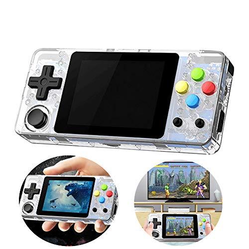 HSKB Handheld Spielkonsole, Konsole Spielkonsole Classic Portable Retro Game Player LDK Game Screen 2,7 Zoll 16 GB Mini Family TV Games für Junge und Mädchen Geschen Toys (Klar)