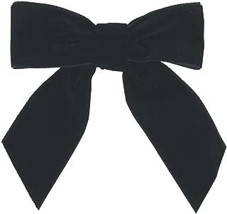 Pre-Tied Velvet Bows, 1-1/2-Inch, 12-Pack (Black)