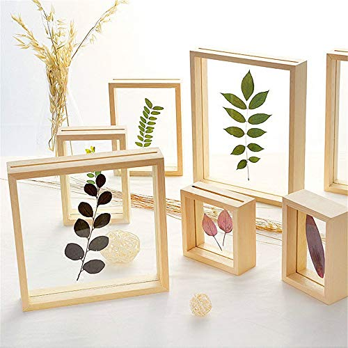 SONGHJ Doppelseitige Glas Bilderrahmen DIY Pflanzenproben Massivholzrahmen Hochzeitszimmer Desktop Dekoration Bilderrahmen Ornament