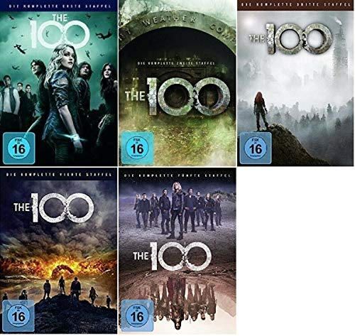 The 100 Staffel 1-5 (1+2+3+4+5, 1 bis 5) [DVD Set]