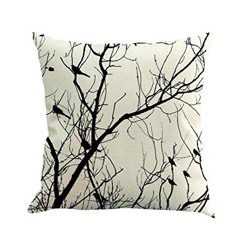 Arbre Taie d'oreiller, Ubabamama simple Taie d'oreiller écran Style décontracté Housse de coussin Déco Bois d'oreiller 45cmx45cm/18x18\