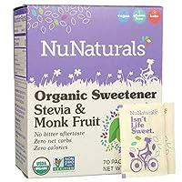 NuNaturals オーガニック甘味料 ステビアとラカンカ 70パック 2 47 oz 70 g