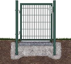 Defacto Tuinpoort, tuindeur, omheining, incl. hoogwaardig slot met 3 sleutels, 106 x 100 cm (l x h), groen