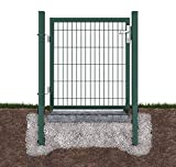 Defacto - Cancello da giardino, con maniglia di alta qualità, 100 x 120 cm, altezza 120 cm, colore verde