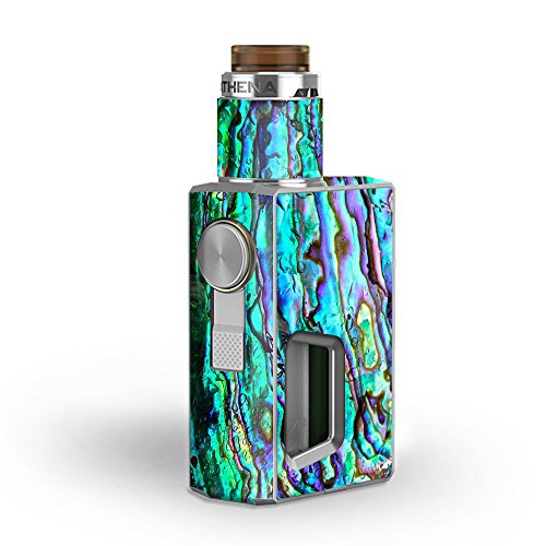 Skin Decal Vinyl Wrap for GeekVape Athena Squonk Kit Vape Kit skins stickers cover / Abalone Ripples Green Blue Purple Shells