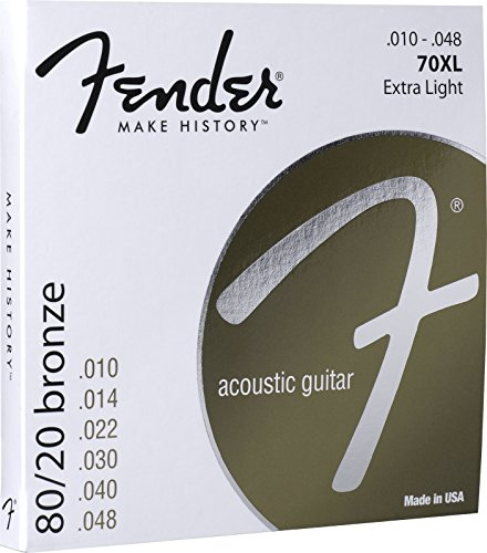 Fender 073-0070-402 Cuerdas acústicas de bronce...