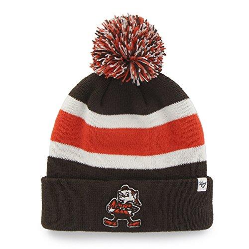47 Brand Breakaway Fashion Cuff Beanie Hat with POM POM - NFL Cuffed Winter  Knit.   62b1919c01a1