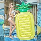 Flotador de la Piscina Inflable - Fila Flotante de la piña Forma de la piña de Dos Colores Forma Flotante con la Bola Fun Pool Summer Piscina Piscina Raft Lounge Playa Party Toys para niños Adultos