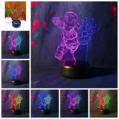 tzxdbh 3D-nachtlampje voor kinderen, 3D-toverstlantaarn, met afstandsbedieningen, decoratieve kinderkamer met strijkplank, decoratieve verlichting