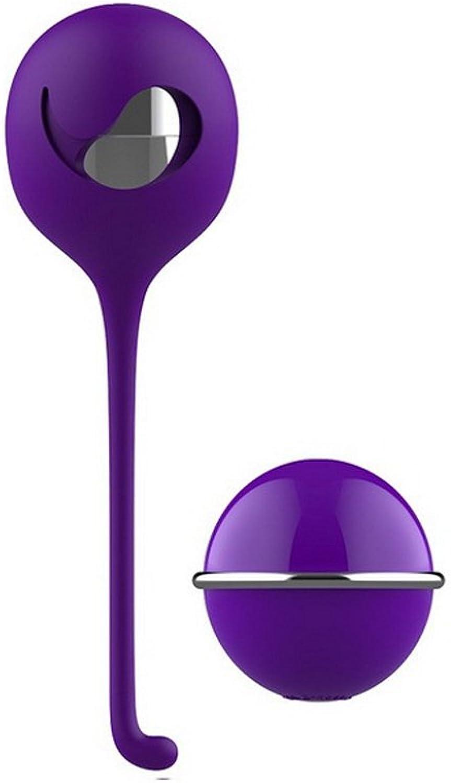 Samon Training Ball Leistungsstarke Kugel Massager für Paar Fitness 8 Vibrationsmodi USB Vibrierendes Spielzeug Wasserdicht purple
