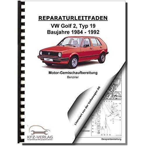VW Golf 2 19 (83-92) 2E2- Keihin-Vergaser Zündanlage 1,6/1,8l Reparaturanleitung