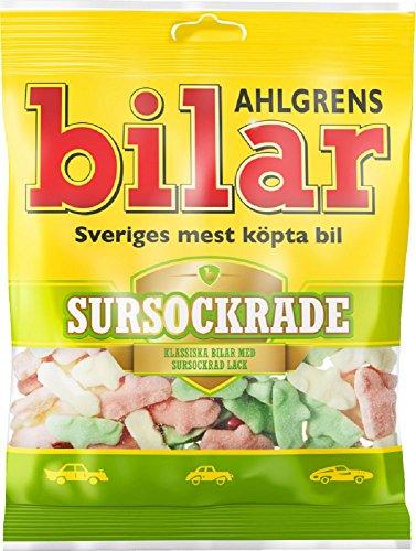 Ahlgrens Bilar Sursockrade - Sauer Weichen Zäh Marshmallow Autos (100 G)