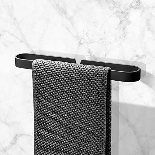 FOUVIN Porta asciugamani autoadesivo senza foratura, in acciaio inox 304, per bagno e cucina, 40 cm