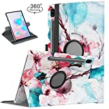 TiMOVO Folio Case for Samsung Galaxy Tab S6 10.5 2019, 360 Degree Rotating Multi-Angle Viewing Smart Leather Swivel Case for Galaxy Tab S6 10.5 Inch SM-T860/T865 2019 Release Tablet - Peach Blossom