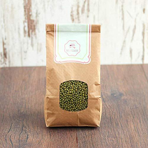 süssundclever.de® Bio Keimsaaten Mungbohnen | Rohkost | 1,0 kg | Keimsprossen | plastikfrei und ökologisch-nachhaltig abgepackt