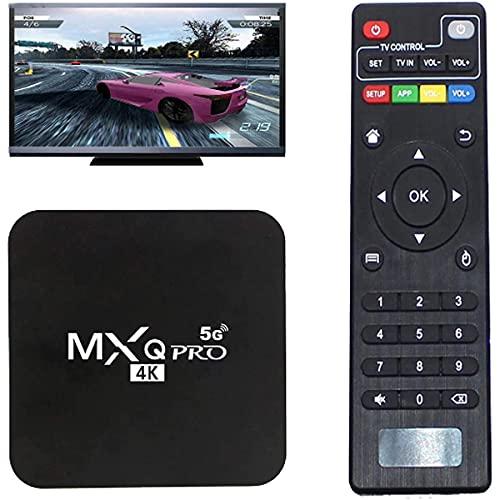 ZHKXBG MXQ Pro 5G Android 10.0 TV Box, Quad-Core 64-bit Android Smart Box Dual Band WiFi Quad Core Home Media Player,4gb+64gb