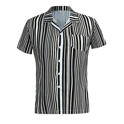 Purchase NANTE Shirt Mens Casual Blouse Leopard Print Short Sleeve T Shirts Men's Baggy Beach Retro ...