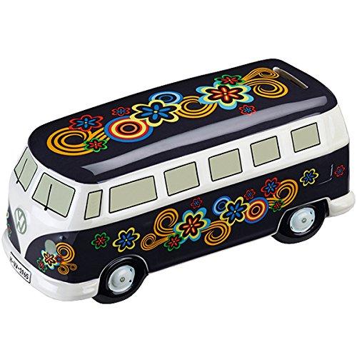 Volkswagen 211087709E Spardose Bulli T1 - Flower Power 22 x 10 cm aus Keramik