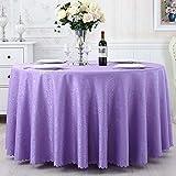 Yinaa Mantel para Mesa de Fácil Limpieza Color Brillante Duradero Manteles Estampados Antimanchas Círculo Violeta Claro Diámetro 200cm