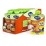 Hero Baby Mi Merienda Bolsitas de Yogurín con Plátano y Fresa - Para Bebés a Partir de los 12 Meses - Pack de 18 x 100 g
