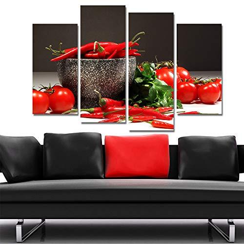 WSNDGWS Home Decoratie Canvas Schilderen Vier Kruiden Plantaardige Spray Schilderij Canvas Geen Beeld Frame 30x60cmx2 30x80cmx2 A2