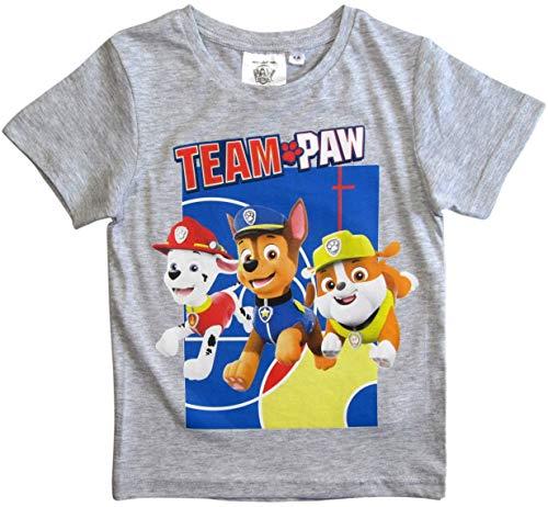 Paw Patrol - Helfer auf Vier Pfoten T-Shirt Jungen Kurz (Grau, 98-104)