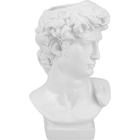 Cabilock Estatua de David Florero Muebles Escultura Pinceles Titular Resina Cabeza Cemento Plantador Florero Maquillaje Pluma Titular Decoración del Hogar