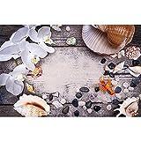 Accesorios de Fondo de fotografía de Vinilo Accesorios de fotografía de Tema de Tablero de Madera y Flores Cortina de Disparo de Estudio fotográfico A23 10x10ft / 3x3m