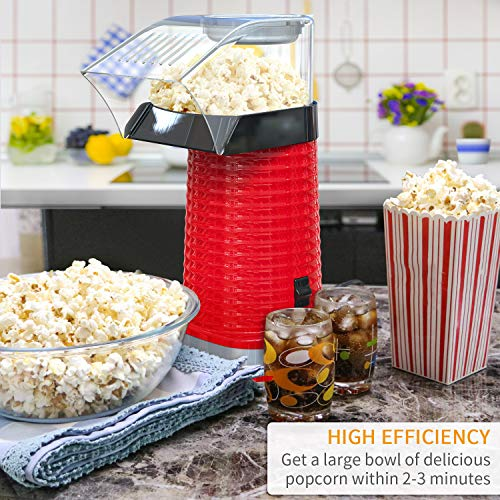 Product Image 2: Fast Hot Air Popcorn Popper With Top Cover,Electric Popcorn Maker Machine,Healthy & Delicious Snack For Family Gathering,Easy To Clean,ETL Certified,Safe