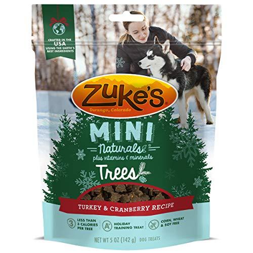 Zuke's Mini Naturals Holiday Trees Turkey & Cranberry Recipe Dog Treats