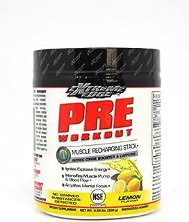 Bluebonnet Nutrition Extreme Edge Pre Workout Powder, Lemon Flavor, 0.66 Pound