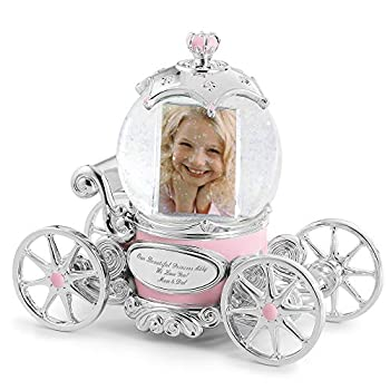 THINGS REMEMBERED Personalized Princess Carriage Musical Photo Snow Globe  Free Engraving