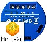 ***Firmware di terze parti installato*** per il funzionamento homekit,Shelly 1 homekit compatibile, programmabile come interruttore, deviatore , pulsante, contatto pulito per apertura elettroserrature porta, facile integrazione per apriporta citofoni...