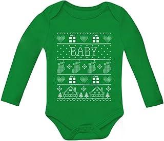 Tstars Baby Boy/Baby Girl Ugly Christmas Sweater Cute Baby Long Sleeve Bodysuit