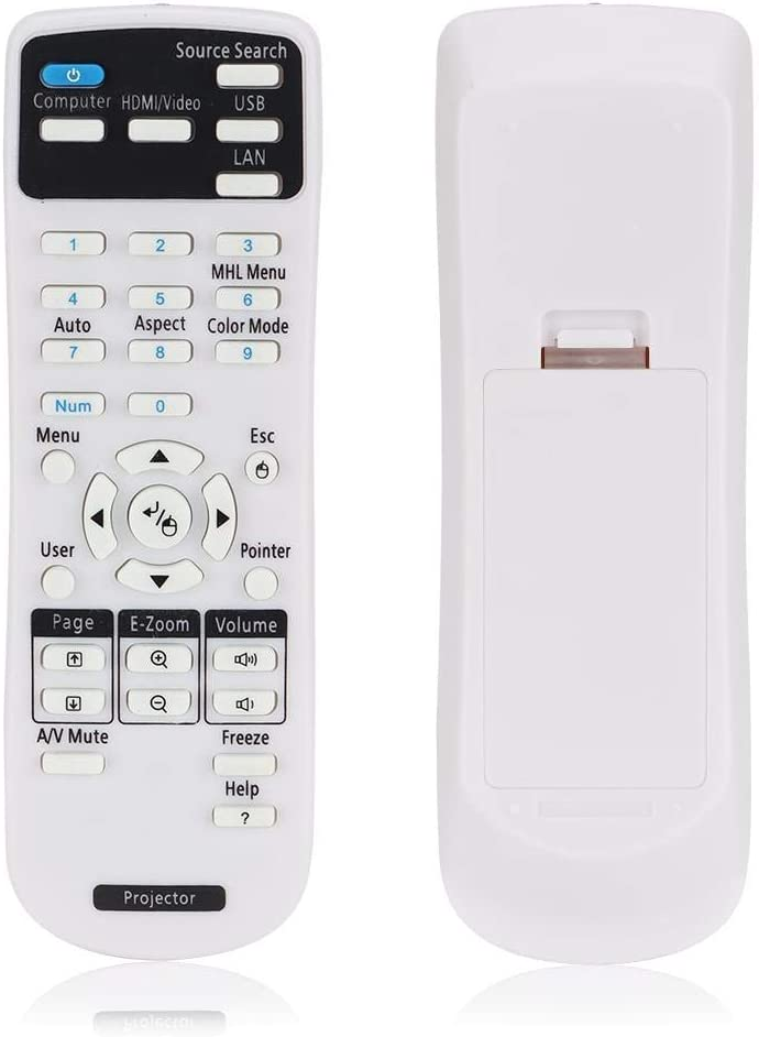 V BESTLIFE Projector Remote Control Replacement for EPSON EX3220, EX5220, EX5230, EX6220, EX7220, 725HD, 730HD Projector