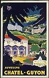 Unbekannt Poster Auvergne Chatel Guyon, Kunstdruck, Format