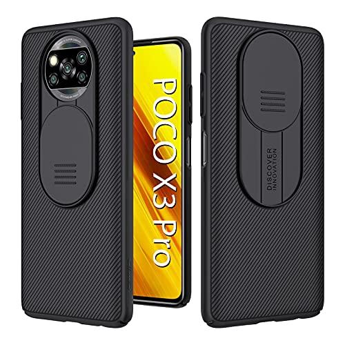 Nillkin Funda para Xiaomi Poco X3 Pro/Poco X3 NFC Case 6.67'' [Protección de la cámara] Carcasa Cubierta de la cámara Protección Deslizante PC Cubierta Protectora antichoque y antirrayas