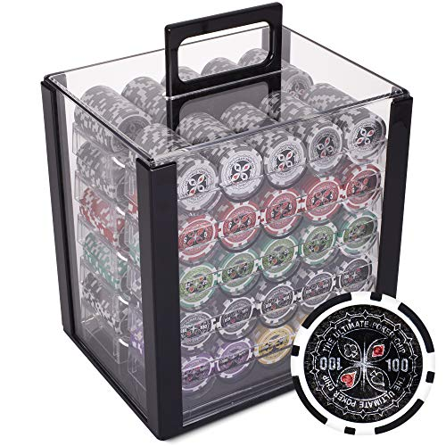 Brybelly Ultimate 14-Gram Heavyweight Poker Chips - Set of 1000 in Acrylic...