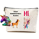 Administrative Assistant Gifts for Women Men Gifts Idea for Coworkers Awesome Secretary Office Job Employee Makeup Bag School Administrative Assistant School Secretary Gift