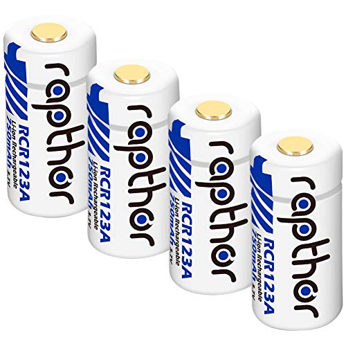 Rapthor Rechargeable Battery 4 Pack 750mAh with UN UL Certified for Arlo VMC3030 VMK3200 VMS3230/3330/3430/3530 Wireless Security Camera Flashlights Polaroid Microphone Lithium Ion Batteries 3.7V