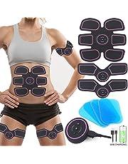 Elektrische spiertrainer, ABS stimulator, buikspiertrainer, elektrische EMS-training, ABS-trainer, spiertrainer, elektrostimulatie, buik/arm/beentrainer, fitnessapparatuur voor dames en heren