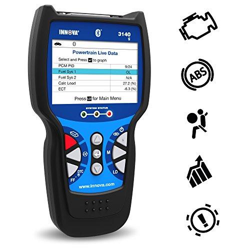 Innova 3140g OBD2 Scanner / Car Code Reader with OBD1 scanning, ABS, SRS, Battery Reset, Service Light Reset, and Live Data