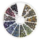Rayher Hotfix-Piedras de estrás, 4mm ø, Colorido, 4 mm